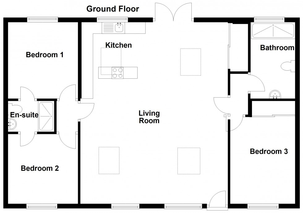 Floorplan for Hiscox Barns, Ongar Road, Stondon Massey, Brentwood
