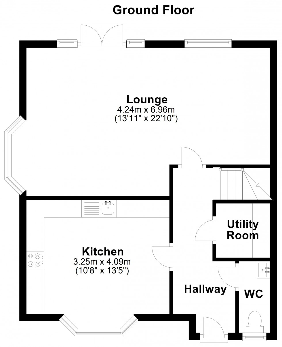 Floorplan for Blackheath Road, Colchester
