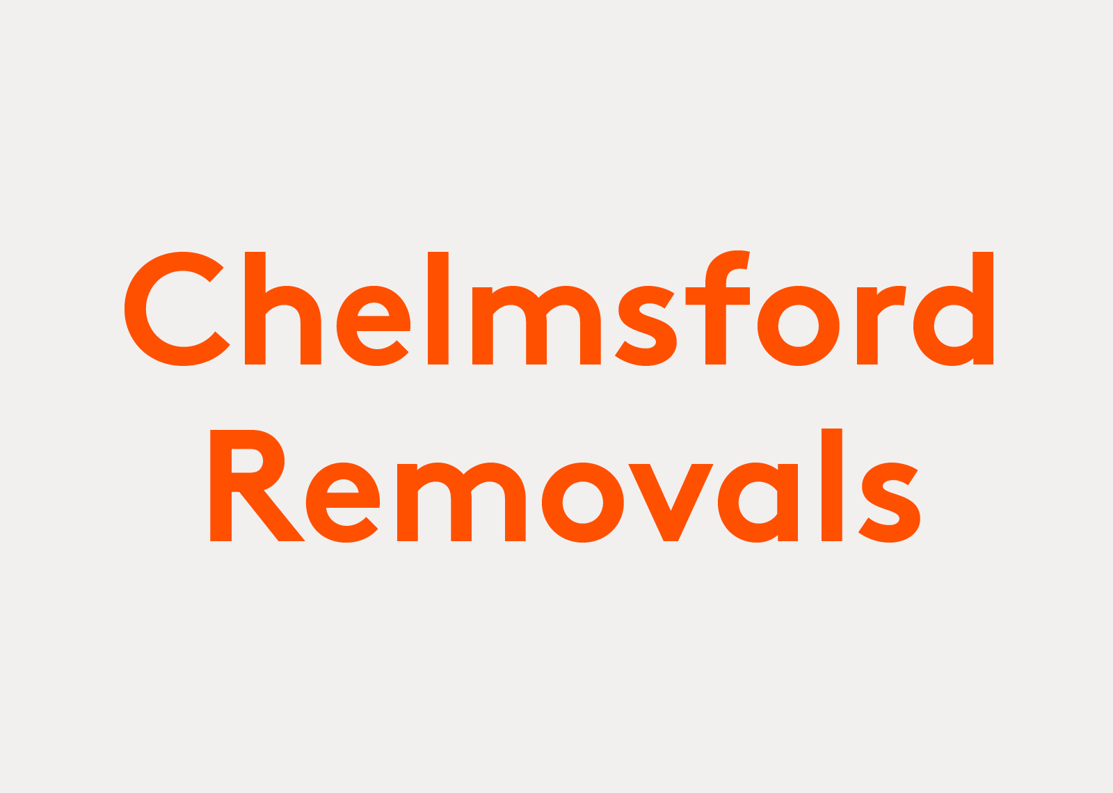 Chelmsford Removals